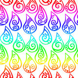 Seamless Rainbow water drops Stock Photography