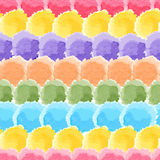 Seamless rainbow watercolor background Stock Images
