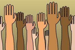 Seamless Raised Hands Royalty Free Stock Photography