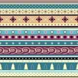 seamless randig wallpaper för jul Royaltyfri Fotografi