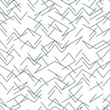 Seamless random, edgy, irregular line black and white pattern. EPS 10 vector illustration