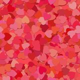 Seamless random heart pattern background - vector graphic from rotated red hearts with shadow effect Stock Photography