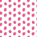 Seamless raspberry pattern. Including sample in swatch panel Stock Image