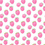 Seamless raspberry pattern. Including sample in swatch panel ai Royalty Free Stock Images
