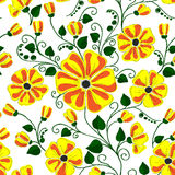 Seamless raster floral pattern, spring/summer backdrop. Stock Images