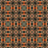Seamless raster pattern in oriental style Flower psychedelic mosaic Pattern for wallpaper, backgrounds, decor for tapestries. Psyc. Hedelic symmetrically Stock Image