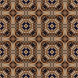 Seamless raster pattern in oriental style Flower psychedelic mosaic Pattern for wallpaper, backgrounds, decor for tapestries, royalty free illustration