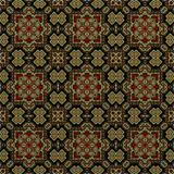 Seamless raster pattern in oriental style Flower psychedelic mosaic Pattern for wallpaper, backgrounds, decor for tapestries. Psyc. Hedelic symmetrically Stock Photo