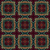 Seamless raster pattern in oriental style Flower psychedelic mosaic Pattern for wallpaper, backgrounds, decor for tapestries, stock illustration