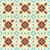 Seamless raster pattern in oriental style Flower psychedelic mosaic Pattern for wallpaper, backgrounds, decor for tapestries. Psyc. Hedelic symmetrically Stock Photos