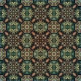 Seamless raster pattern in oriental style Flower psychedelic mosaic Pattern for wallpaper, backgrounds, decor for tapestries. Psyc. Hedelic symmetrically Royalty Free Stock Image