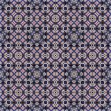 Seamless raster pattern in oriental style Flower psychedelic mosaic Pattern for wallpaper, backgrounds, decor for tapestries. Psyc. Hedelic symmetrically Stock Photography