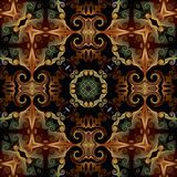 Seamless raster pattern in oriental style psychedelic mosaic Pattern for wallpaper, backgrounds, decor for tapestries, carpet.  stock illustration