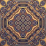 Seamless raster pattern in oriental style psychedelic mosaic Pattern for wallpaper, backgrounds, decor for tapestries. Carpet royalty free stock image