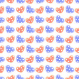 Seamless raster pattern. Watercolor background with hand drawn hearts with dots. Series of Watercolor Seamless Patterns, Backgrounds Stock Photography
