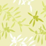 Seamless realistic olive oil background Stock Photography