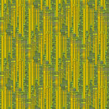 Seamless rectangles and squares pattern yellow green ocher gray Royalty Free Stock Photography