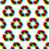 Seamless recycle background. Vector pattern Stock Images