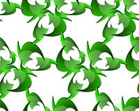 Seamless Recycle Sign Pattern Stock Photos
