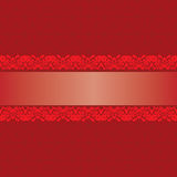 Seamless red background. With decorative elements Stock Photos