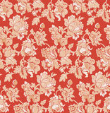 Seamless red baroque venetian wallpaper. Vector illustration Royalty Free Stock Photography