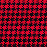 Seamless red and black classical retro pixel houndstooth pattern vector Royalty Free Stock Photography
