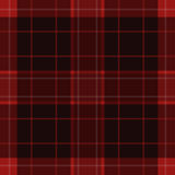 Seamless red, black tartan with white stripes Royalty Free Stock Photo