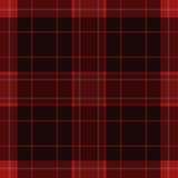 Seamless Red, Black Tartan With White Stripes Royalty Free Stock Photo