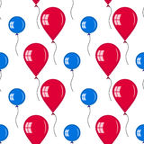 Seamless of red and blue balloons Stock Images