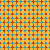 Seamless red, blue and ocher checked pattern or background royalty free illustration
