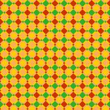 Seamless red, blue and ocher checked pattern or background for holiday designs Royalty Free Stock Image
