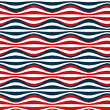 Seamless red blue stripes Royalty Free Stock Images