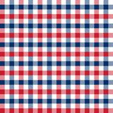 Seamless red and blue 4th of July Independence Day gingham check pattern background. stock illustration