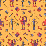 Seamless Red Bot pattern Royalty Free Stock Images
