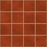 Seamless red (brick like) square tiles Royalty Free Stock Image