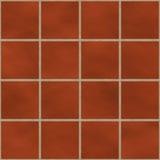 Seamless red (brick like) square tiles stock illustration