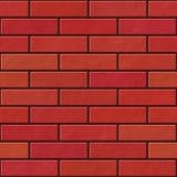 Seamless red brick wall pattern Stock Photo