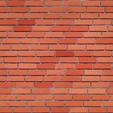 Seamless red brick wall texture. stock illustration