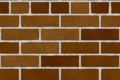 Seamless red brown brick wall Royalty Free Stock Image
