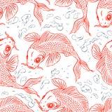 Seamless red carps Royalty Free Stock Photos