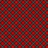 Seamless red checkered fabric vector pattern/background Royalty Free Stock Photos