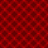 Seamless red Chinese style arranged in a crisscross square pattern. Stock Photography