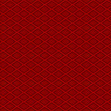 Seamless red Chinese style diamond check geometry pattern background. Stock Image