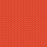 Seamless red Chinese style diamond check geometry pattern background. Royalty Free Stock Images