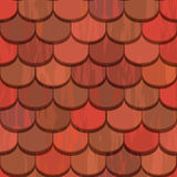 Seamless red clay roof tiles Stock Photo
