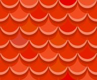 Seamless red clay roof tiles.Terracotta roof tile. Vector. Seamless terracotta roof tiles. Vector pattern Royalty Free Stock Photos