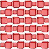 Seamless red cubes texture Stock Photos
