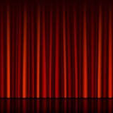 Seamless red curtain with stage Stock Photos