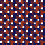 Seamless Red, Dark Blue Abstract Modern Pattern Royalty Free Stock Photo