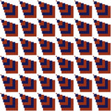 Seamless Red, Dark Blue Abstract Modern Pattern Royalty Free Stock Image